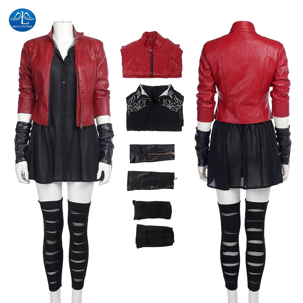 Карнавальный костюм манлуyunxiao Scarlet Witch, костюм «Avengers Age of Ultron 2» для взрослых и женщин, костюм для Хэллоуина