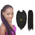 Havana Mambo Twist Crochet Synthetic Braiding Hair Crochet Braid Senegalese Twist Hair Crochet Braids 14 Inch 80g/Pack
