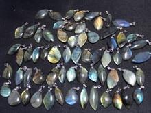 20pcs  Natural scintillating labradorite QUARTZ Crystal pendant free shipping