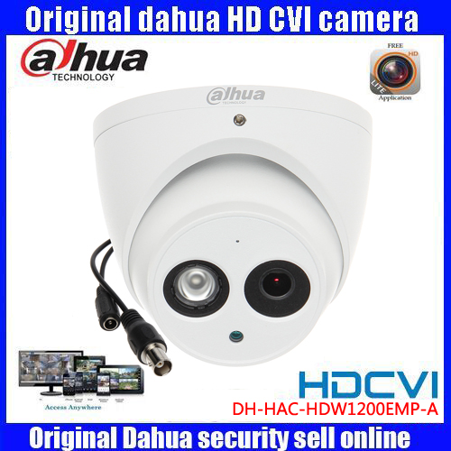 waterproof HD1080p Dahua HDCVI Camera 2MP DHI-HAC-HDW1200EMP-A IR Dome  Security Camera CCTVIR distance 50m HAC-HDW1200EMP-A