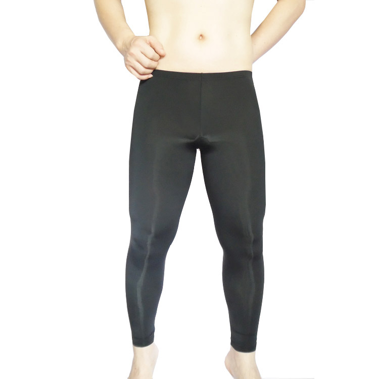Cockcon High Elastic Male Ankle Length Trousers Male Sexy Sleep Bottom Male Ice Silk Tights Panties Pajamas For Men 1602