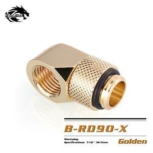 Image 3 - BYKSKI G1/4 90 度回転フィッティング/真鍮のアクセサリー水冷却アダプタ B RD90