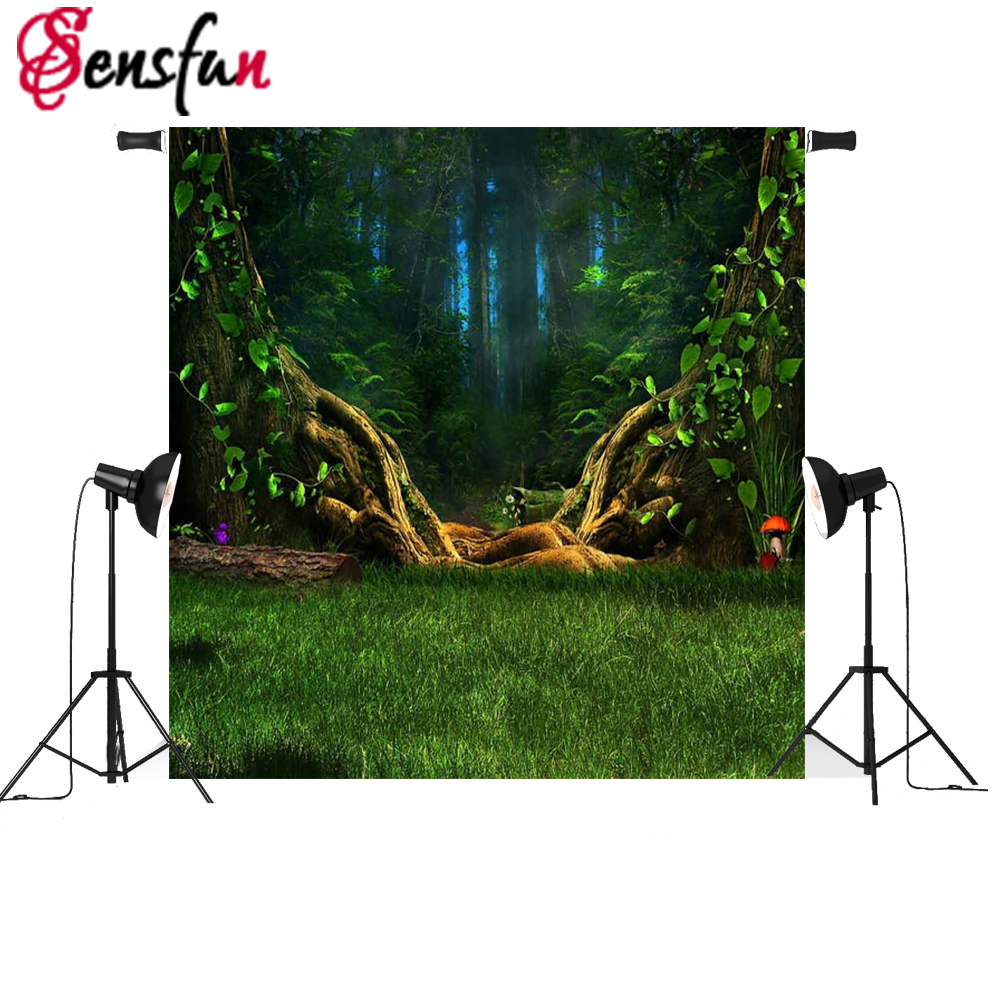 Sensfun 3x5ft Photo background Forest Children Photography backdrops Tree Green Fairy Tale Photography vinyl photo backdrop кроссовки asics tiger кроссовки gel lyte iii hl7e5 9090 7