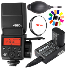 Godox V350C Mini Flash with TTL GN36 1/8000s HSS 2.4G Wireless X System Built-in Lithium Battery Speedlite for Canon Camera godox v350n mini flash ttl hss 1 8000s 2 4g x system built in 2000mah li ion battery camera speedlite flash for nikon camera