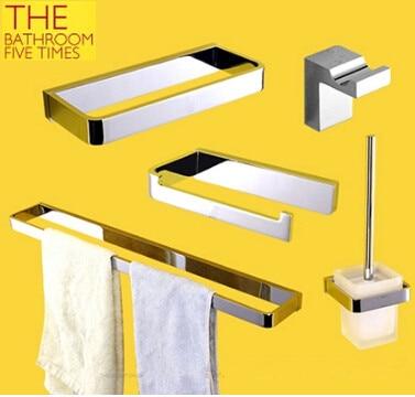 5 шт. латунь оборудование для ванной, аксессуары для ванной комнаты Набор полотенец веша ...