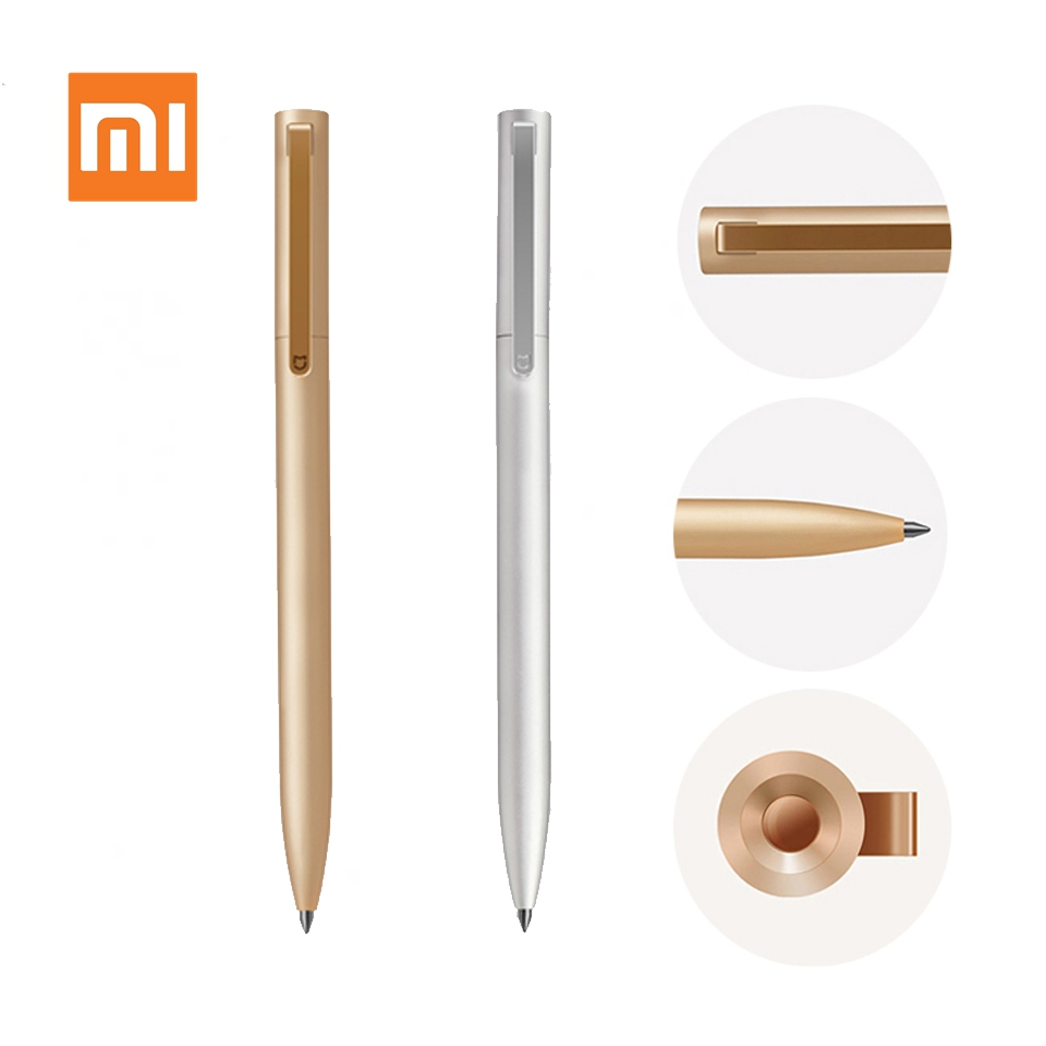 Xiaomi Mijia Metal Sign Pens Retractable Pen PREMEC Smooth Ink Switzerland Refill 0.5mm Office Signing Mi Aluminum Alloy Pens