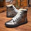 2016 de La Moda de Invierno Zapatos de los hombres de Invierno Botas de Ante De Los Hombres Bota de la Nieve