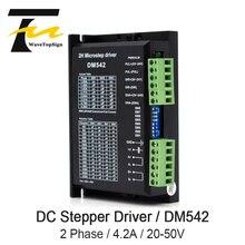 WaveTopSign Драйвер шагового двигателя DM542 Напряжение 20-50VDC ток 1,0-4.2A для 57 86 серии 2 фазы цифровой шагового двигателя