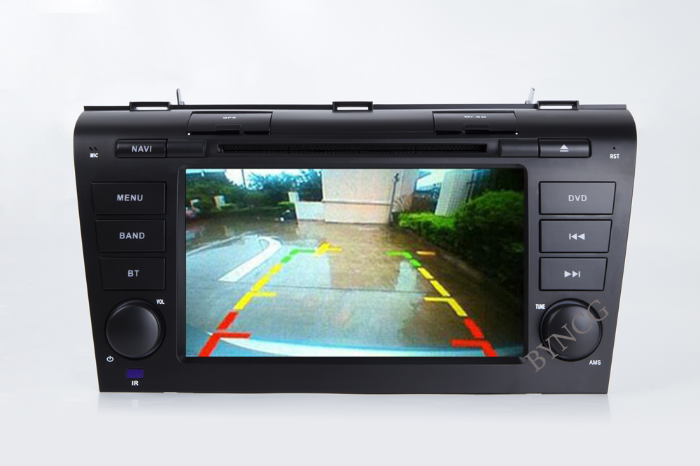 BYNCG 2din 7INCH Android 8.1 Quad Core Car DVD Player GPS Navi 2G ROM for MAZDA 3 2004-2009 with Audio Radio 16-32GB