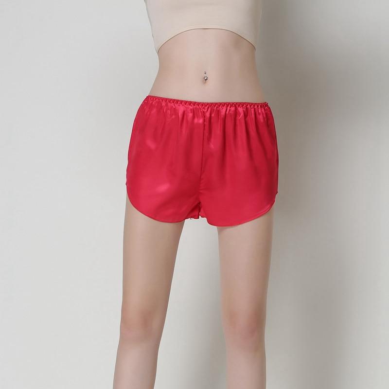 Summer Women Sleep Bottoms Sexy Lingerie Sleep Shorts Silk Lady Pyjamas Female Red Pink Nightwear Sleepwear Home Wear Nighties