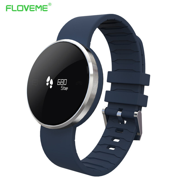 FLOVEME A24 Bluetooth Smart Watch NRF51822 SRAM NOR Flash Waterproof Men Watches Sedentary Remind Heart Rate Monitor Wristband