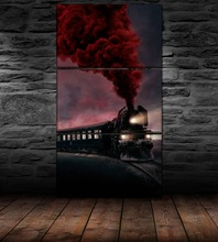 Modern Home Decorative Wall Art Modular Picture 3 Pieces Train Poster Movie Murder On The Orient Express Painting Canvas Print