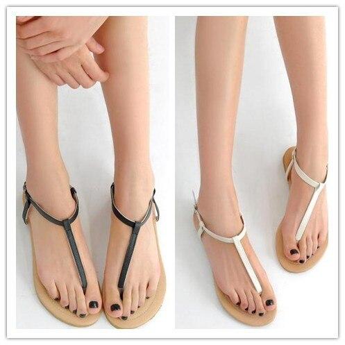7afb2c39767b New Summer T - tied Slip - On sandales plates romains pour les femmes  sandales 2015