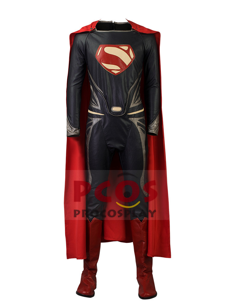 Recommend~ Batman v Superman: Dawn of Justice Superman Cosplay Costume & Boots set mp003239