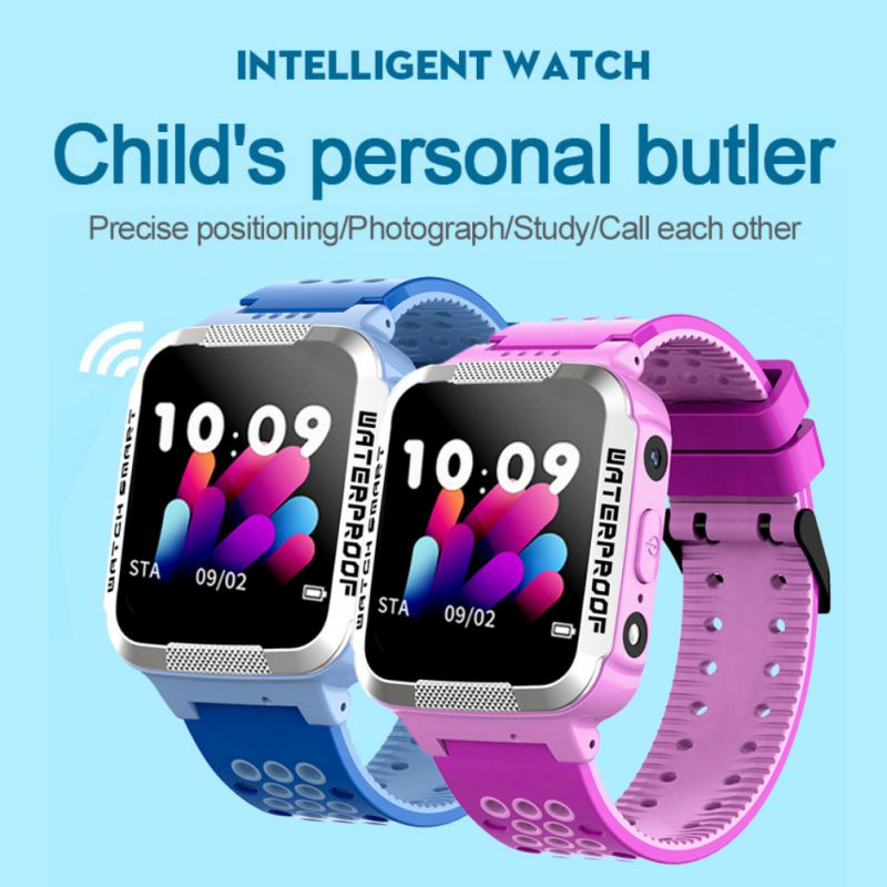 Children's Smart Phone Watch IP67 Waterproof Voice Chat Two-way Call SOS Emergency Help Positioning Children's Watch
