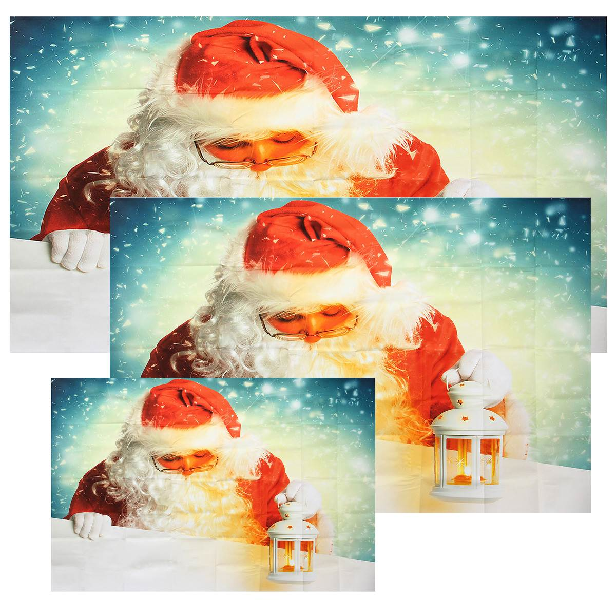 Blue Wall Photo Background Art Fabric Cloth Santa Claus Photography Backdrop Merry Christmas Background For Studio