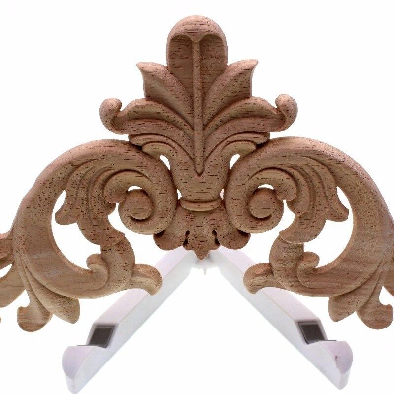 Exquisite Classic Rubber Wood Carved Applique Vintage Furniture Craft Decor Home Decoration Accessories Miniature Figurine