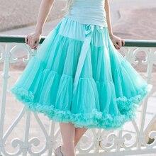 Euro ZO darmowy Test kiecka kobiety szyfonowa spódnica Pettiskirt dla dorosłych Tutu spódnica suknia balowa taniec lato 65cm długa spódnica Sexy pojedyncza warstwa