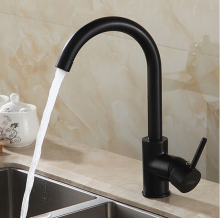 360 degree rotating copper Black kitchen faucet hot and cold water vegetables basin sink mixer tap