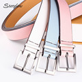 105cm High quality New three color wild casual belt women 's young fashion students female pu leather belt brede riem N034