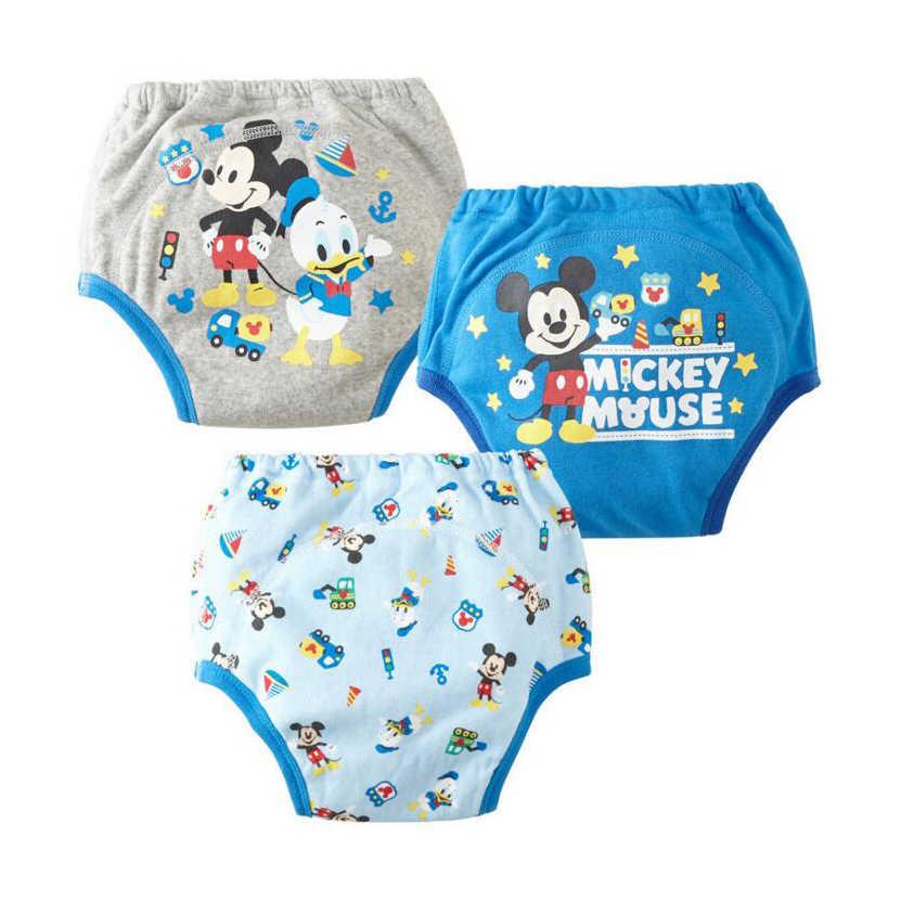 df6b61f9d160 Многоразовые Детские тренировочные брюки младенческой Водонепроницаемый  брюки малышей горшок белье для новорожденных мальчиков