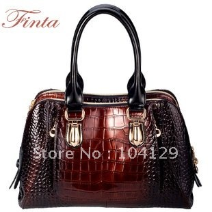 2013 Fashion  Genuine leather shoulder crocodile  animal print handbags for women ,Real leather designer handbag women bags