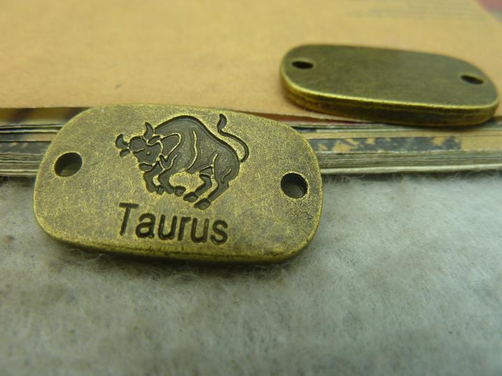 ᗐ10 unids bronce antiguo Taurus conector joyería de DIY que hace - a796