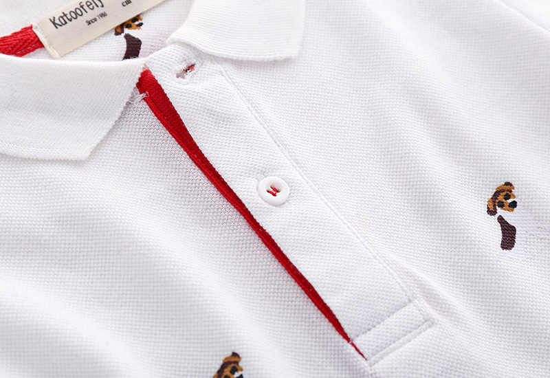 Summer Boys Tees And Polos Short Sleeve Boys Polo Shirt Kids Printed Polo Shirts Clothing