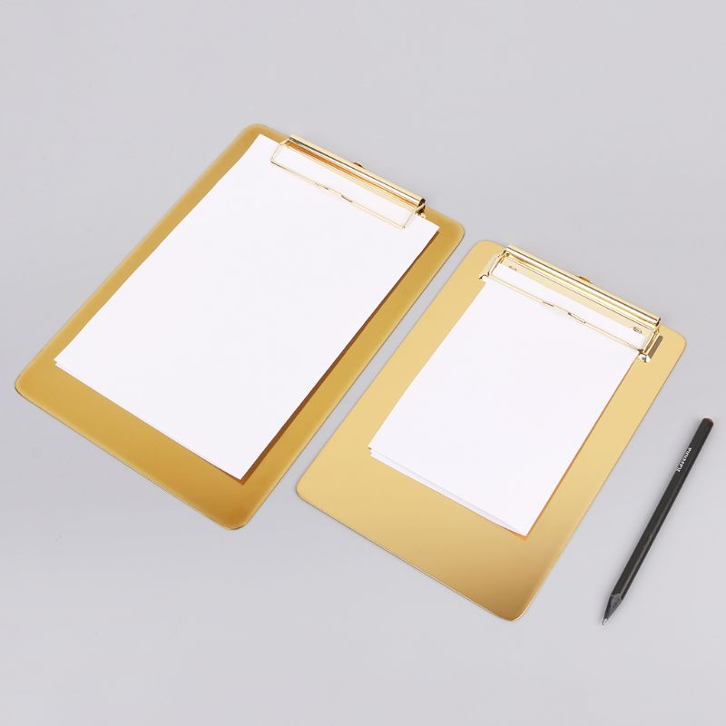 Notebooks & Writing Pads Metal Clipboard Writing Pad File Folders Document Holder Desk Storage School Office Stationery Supply 3 Sizes