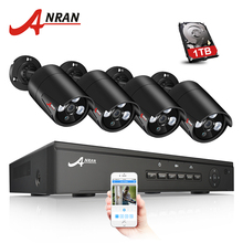 ANRAN 4CH POE NVR Kit 48V Power CCTV System Onvif P2P 1080P HD H.264 IP Camera POE Outdoor Security Video Surveillance System