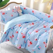 Комплект детского постельного белья из хлопка, пододеяльник для новорожденных, постельные принадлежности для кроватки, детское пуховое одеяло, 1 шт.(без наполнения