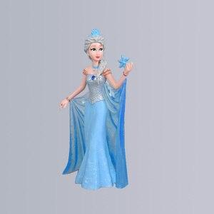 Image 5 - ديزني كيد لعب 5 قطعة/المجموعة 10 13 سنتيمتر الأميرة المجمدة إلسا حورية البحر الثلوج زهرة بيضاء الجنية Pvc الشكل العمل النادرة نموذج دمية