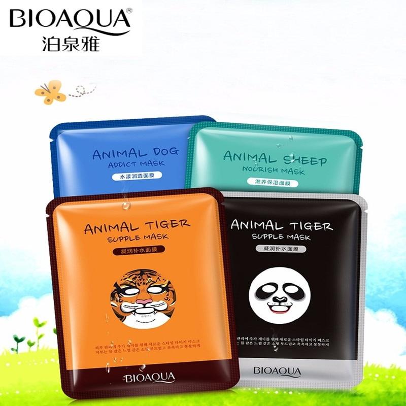 BIOAQUA Skin Care Sheep/Panda/Dog/Tiger Four Types Optional Facial Mask Moisturizing Oil Control Cute Animal Face Masks Комедон