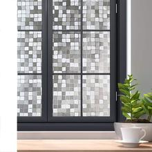 3D No Glue Static Privacy Window Film Decorative Glass Stickers Frosted Opaque Bathroom Wide 45cm Home Decor Protection