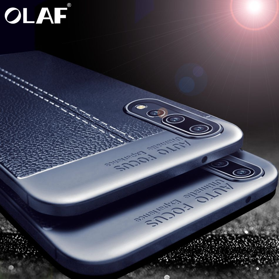 Galleria fotografica OLAF Carbon Case For Samsung Galaxy S9 S8 Plus S7 Note 8 Full Cover Luxury TPU Leather Case For Samsung S8 S9 Plus S7 Edge Cases