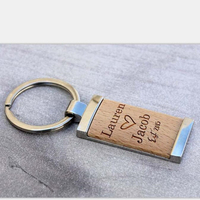 New Arrived Wedding Customized Wedding Gift Personalized Key Ring Wooden Key Ring Engraved Rustic