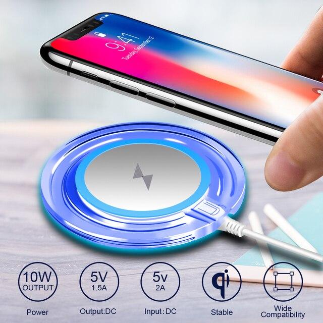 Адаптер для беспроводной зарядки приемник QI Беспроводной Зарядное устройство Pad для iPhone X 7 8 плюс 6 6s samsung Galaxy S8 S8 плюс S6 S7 Edge Note 8