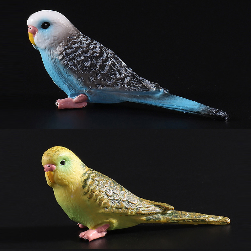 Simulation Forest Parrot Figures Miniature Animal Model Bird Figurine Fairy PVC Zoo Statue Toys 8x2.3x3.2cm
