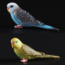 Simulation Forest Parrot Figures Miniature Animal Model bird Figurine fairy PVC Zoo statue toys 8x2.3x3.2cm(China)