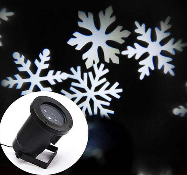 new arrival 2017 outdoor christmas led light projector led snowflake projectors mini white snow