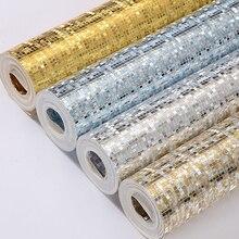 Золотые серебряные фольгированные мозаичные блестящие обои для отеля к ТВ бар потолок ТВ фон стены домашний Декор Гостиная Papel де Parede 3D