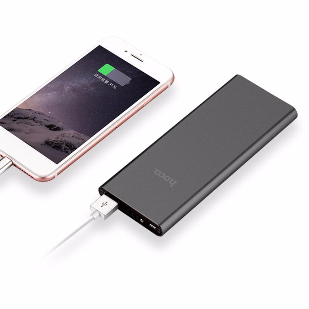 bilder für 100% Original HOCO 10000 mAh Metall Cookie Energienbank 2.1A USB LED Metall Tragbare Batterie Sicheren Mobilen Backup Ladegerät Bewegliche handys