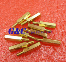 50PCS Brass M3X15MM Male to Femal Spacer Hex Column Standoff Support PCB(China)