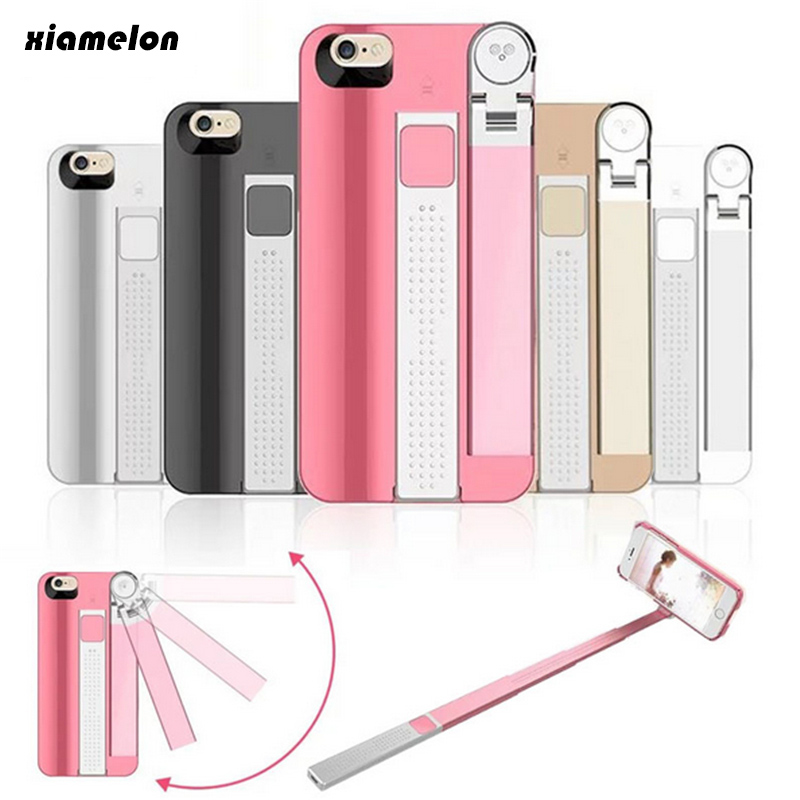 Xiamelon 2 In 1 Phone Case Selfie Stick  for IPhone6 6s Plus Wireless Bluetooth Remote Control  Cases Monopod for Iphone7 Plus