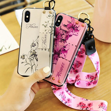 For iphone X Shockproof Phone Case For Apple iphone X Bracket Wrist Strap Lanyard Case For iphone 10 Protective Back Cover Shell стоимость