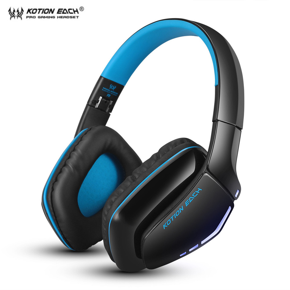 KOTION EACH B3506 Bluetooth Headphones Wireless Headset Foldable Gaming Headset V4.1 with Mic for PS4 PC Mac Smartphones kotion each b3506 foldable wireless bluetooth headphones gaming casque hifi bass stereo headset with mic for phone ps4 tablet pc