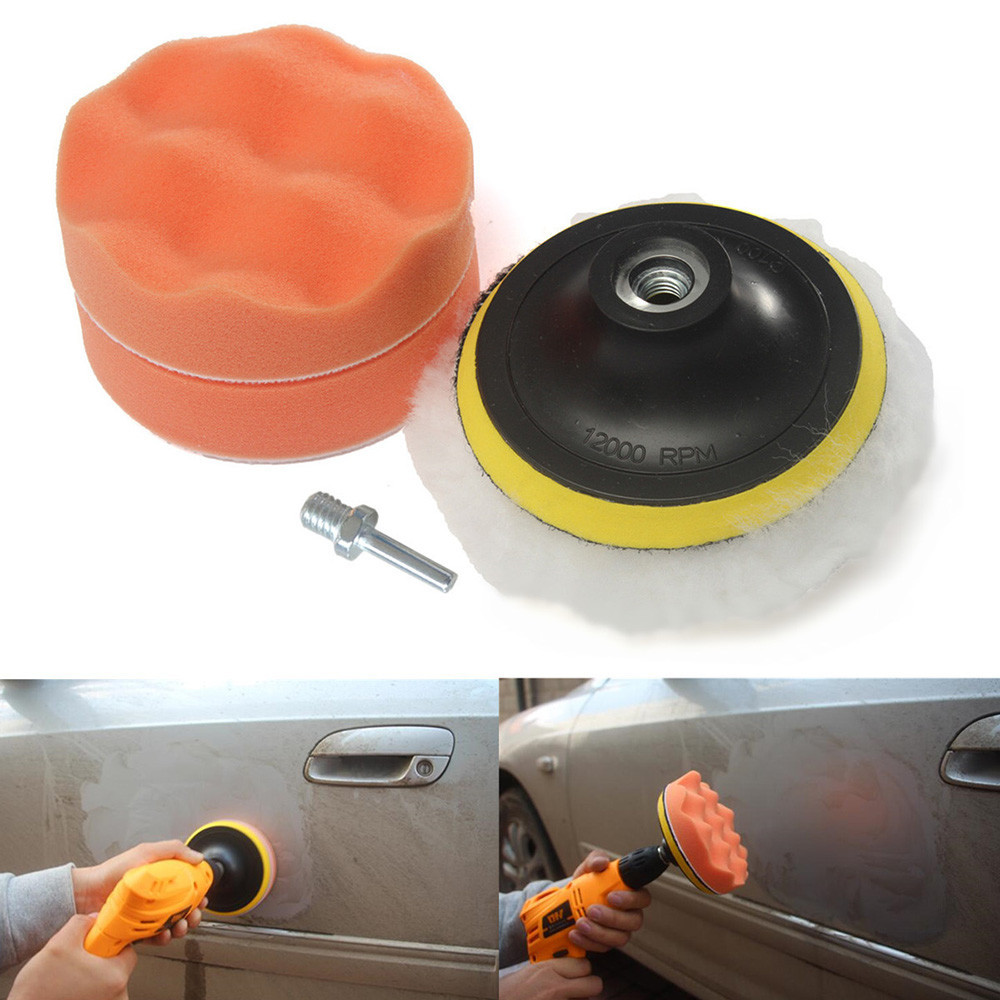 Sponge Buffer Pad Polishing Cleaning Waxing All In One Kit For Car Furniture Glass