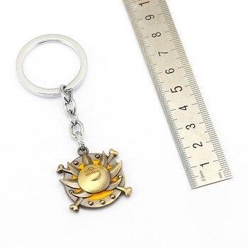 Anime ONE PIECE Keychain Car Charm Key Chain Luffy Zoro Sanji Nami Key Ring Holder Chaveiro Pendant