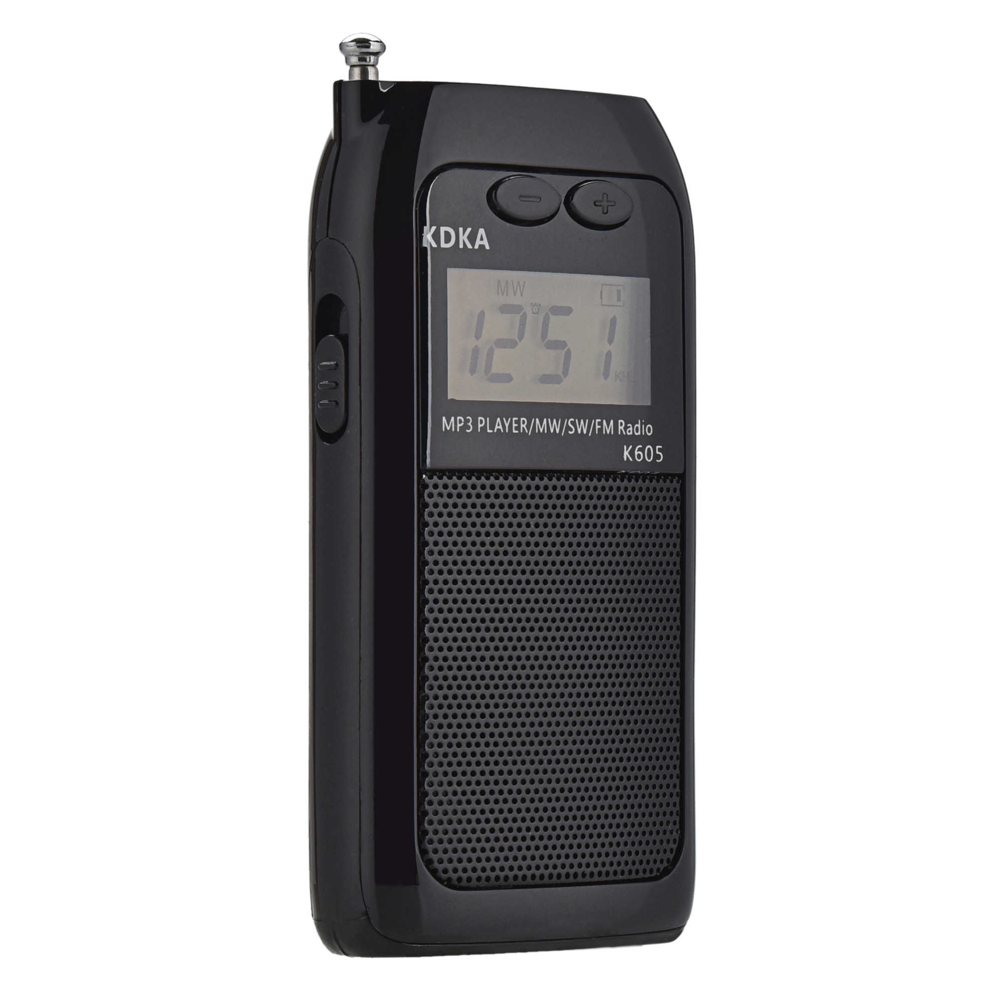 K605 Mini Pocket Radio STEREO FM AM SW MW Sintonia Digitale Ricevitore Radio MP3 Giocatore di Musica Ricaricabile Batteria Radio Portatile