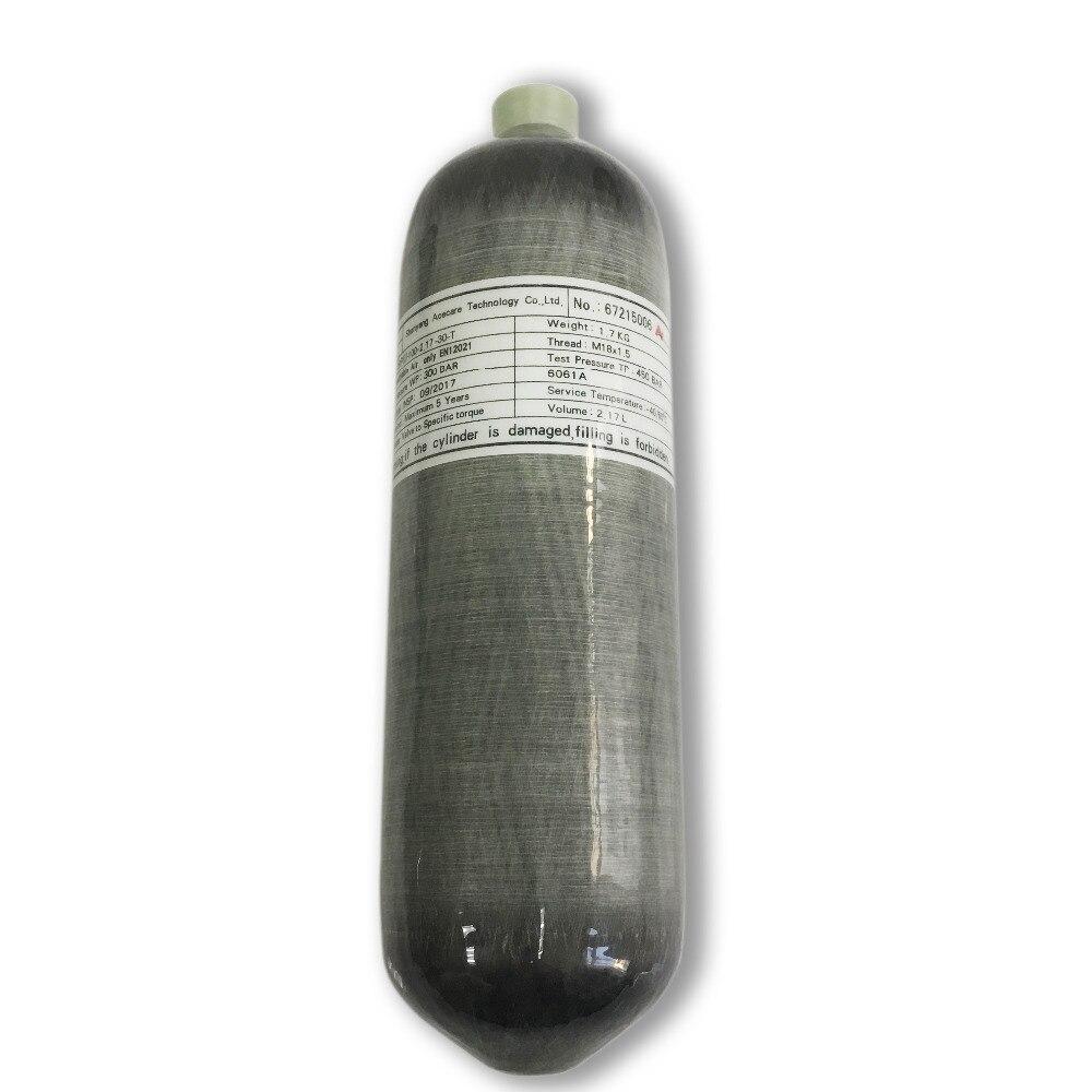 AC1217 2.17L CE réservoirs d'air haute pression Softgun bouteille de gaz en Fiber de carbone 300bar 4500psi Paintball livraison directe Acecare 2019